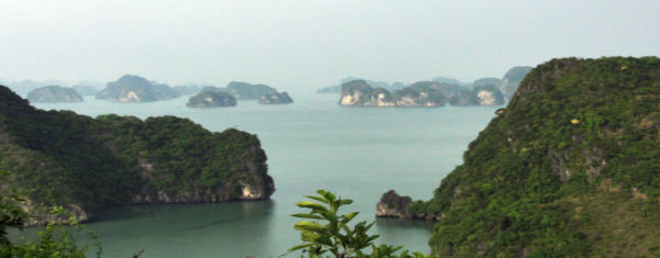 point de vue sur la baie d'halong